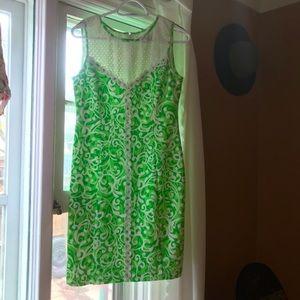 J HOWARD vintage green sheath dress